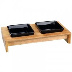 Napf-Set aus Holz und Keramik